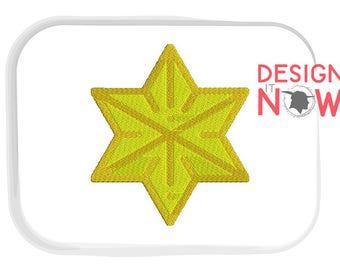 Star Machine Embroidery Design - 5 Sizes