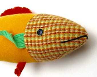 Goldfish wool bright fish pillow doll cabin ocean decor
