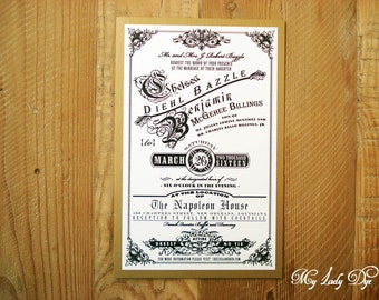 100 Vintage Victorian Wedding Invitations - The Shelley Collection - By My Lady Dye