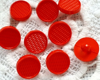 set of 9 buttons has red 15 mm