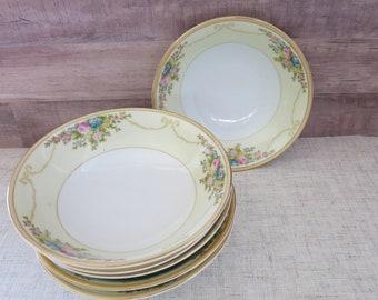 Meito China Soup Bowls, Handpainted Meito China 6 Soup Bowls, Meito China N1065A, Meito China MEIN1065A, Vintage Meito China Bowls -V332