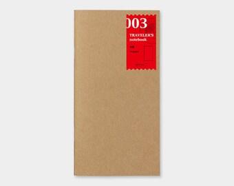 Traveler's Notebook Refill 003 Blank Notebook Refill for Regular Size Traveler's Notebook   Midori Insert (14247006)