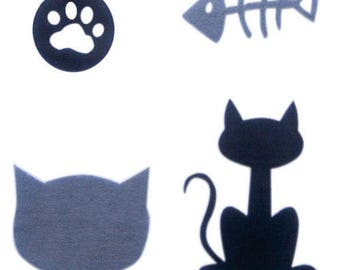 Set patterns of adhesive felt (CAT)