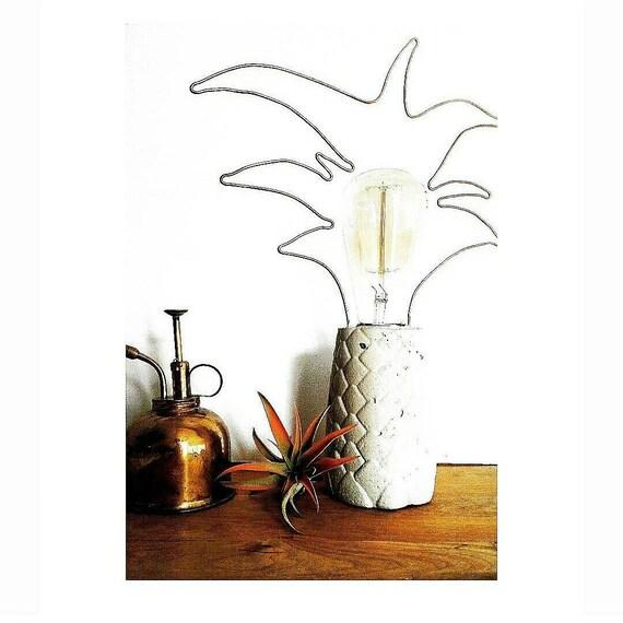 Pineapple Light/Concrete Lamp/Housewarming Gift/Pineapple Decor/Concrete decor/Office light/Desk Lamp/Pineapple lamp/Pineapple