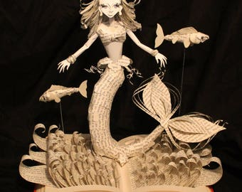The Little Mermaid Book Sculpture