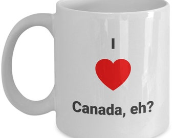 Canada Day ceramic coffee mug- gift for Canadian- gift for friend- funny ceramic mug