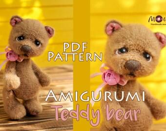 Amigurumi Bear Nose : Teddy bear crochet pattern amigurumi bear pattern diy crochet
