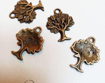 Bronze tree charm