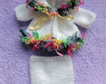 """Hand Knitted Dolls Clothes for 8""""  OOAK  Doll (# 293)"""