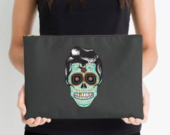 Sugar Skull Nappy Pouch, Nappy Pouch, Nappy Wallet, Diaper Case, Toiletry Bag, Nappy Clutch, Baby Change Wallet, Nappy Bag, Studio Pouch