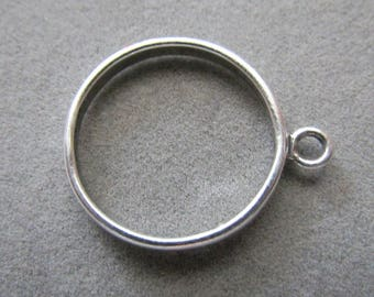 Solid Sterling Silver Loop Ring Size 6