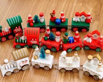 Christmas Small Wood Train Set