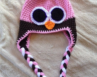 Custom Owl Hat - Your choice of colors