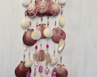 Handmade wind chimes made from exotic seashells