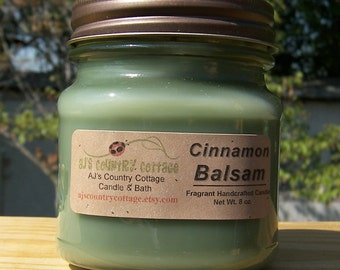 CINNAMON BALSAM CANDLE, Fresh Winter Fragrance, Christmas Candles, Holiday Candles, Scented Candles, Christmas Tree Candles, Cinnamon Candle
