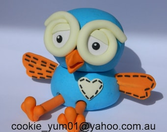 1 edible 3D HOOT from GIGGLE & Hoot owl cake decoration topper gumpaste sugarcraft birthday wedding anniversary engagement kids character