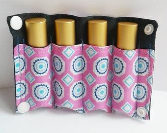 SALE Essential Oil Roller Bottle Case - Essential Oil Bag - Essential Oil Travel Case - Travel Case - Wallet - Roller Bottle Case - 10 ml