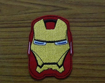 Iron Man Face - Avengers Applique Embroidered Iron on Patch