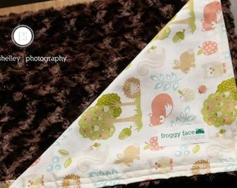 Woodland Friends Minky Baby Blanket
