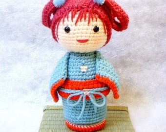Crochet Amigurumi pattern - ChoCho - Kokeshi doll tutorial PDF