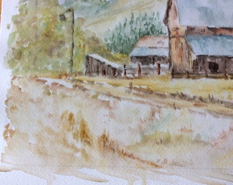 Wall Art The  Bissonette Place original watercolor