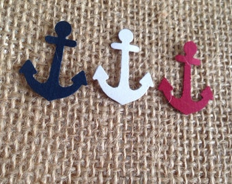 Anchor Confetti Navy, Red and White, Envelope confetti