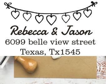 Heart Address Stamp, address stamp, Self Ink Return Address Stamp, Personalized Address Stamp, Self Ink Custom Address Stamp, wedding gift