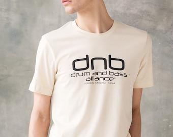 DJ T Shirt - Drum n Bass Alliance - Drum and Bass Synthesizer & Bass Synth 808 Music Producer Junglist Neurofunk Hand Screen Printed Tee Top