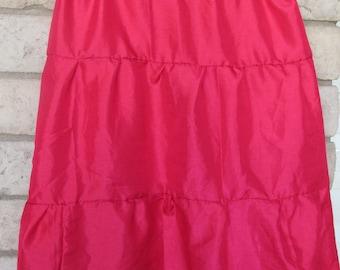 red womens skirt