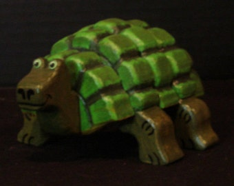 Layered Wooden Turtle