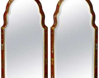 Pair of Queen Anne Style Chinoiserie Mirrors by Friedman Brothers