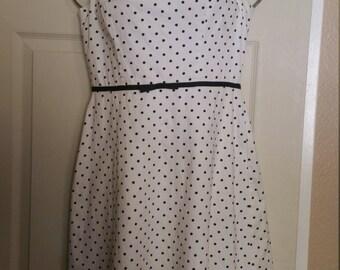Black and white poke a dot dress