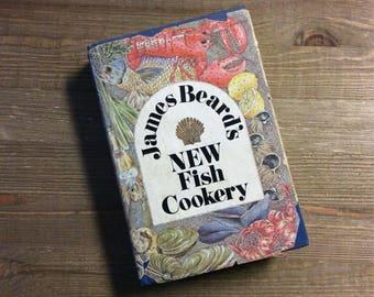 New Fish Cookery - James Beard - Fish Cookbook - Pescetarian Gift - Seafood Cookbook - Hostess Gift - Housewarming Gift