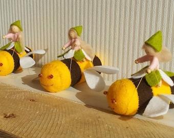 Happy bees - DIY felt kit
