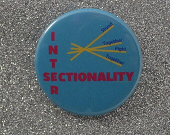 Intersectional Feminism, Intersectional Activism, Intersectionality Pinback Button Badge