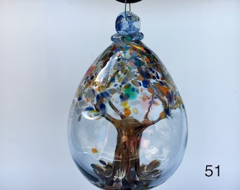 Hand Blown Ornament - Spring Tree of Life