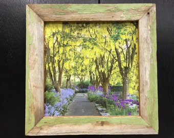 "12x12"" Old Green Painted Barnwood Frame"