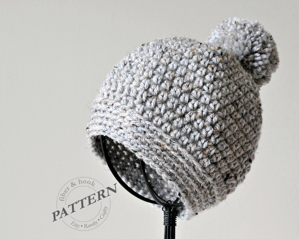 Crochet Pattern Pom Pom Beanie Crochet Pom Pom Hat Easy