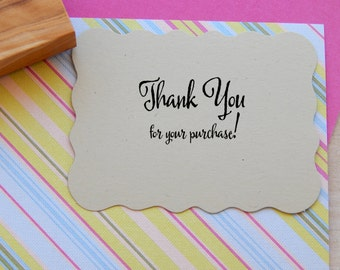 Thank You For Your Purchase Olive Wood Stamp