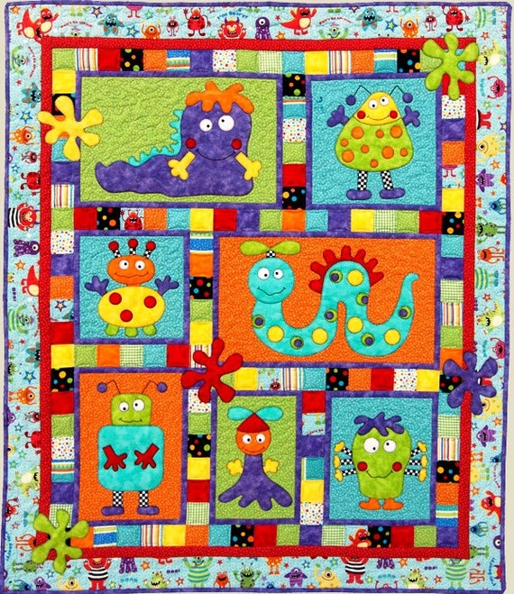 Monster Patch Quilt Pattern Adorable Applique And Pieced Quilt