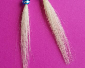 Earrings genuine horse hair