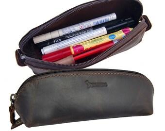 EL BURRO leather pouch pencil case, Pencil Pouch pencil case molt make-up bag Pencilcase