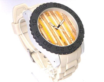 Recycled Skateboards, Wooden Watch, Skate Watch, Custom Watch, Personalised Watch, Wood Watches, Wood Watch, Design Watch, Unique Watch