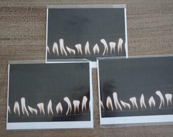 """Set of THREE """"Burn'n"""" Note Cards"""