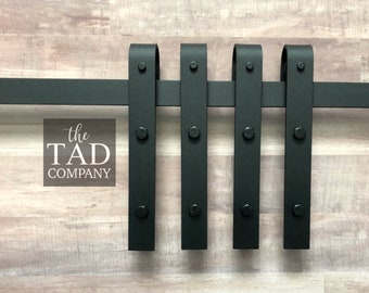 Mini Barn Door Hardware Set // 4 Rollers 1 Track // Rustic Modern // Sliding Door Hardware // For DIY Console // Mini Barn Door