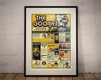 The Goonies Movie Print. (Movie Posters // Film Posters // Steven Spielberg // Corey Feldman)