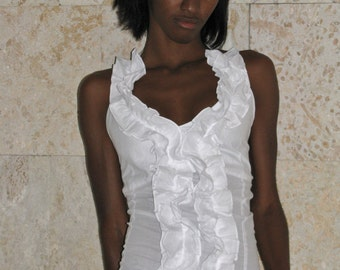 English embroidery  Top, broderie anglaise model 01