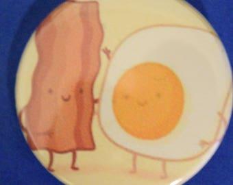 Bacon and Eggs 1.5 Pinback Button