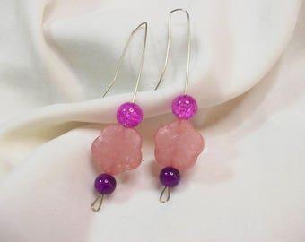 Handmade earrings with colorful beads