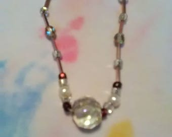 Sparkling beads necklace and earrings set